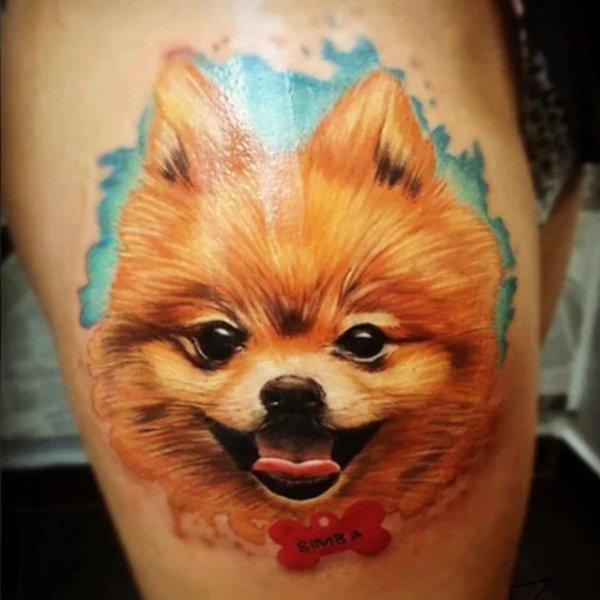 Pomeranian-Tattoo-02-Davina Do Santo 001