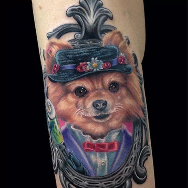 Pomeranian-Tattoo-07-Marc Durrant 001