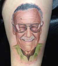 Stan Lee tattoo-David Corden