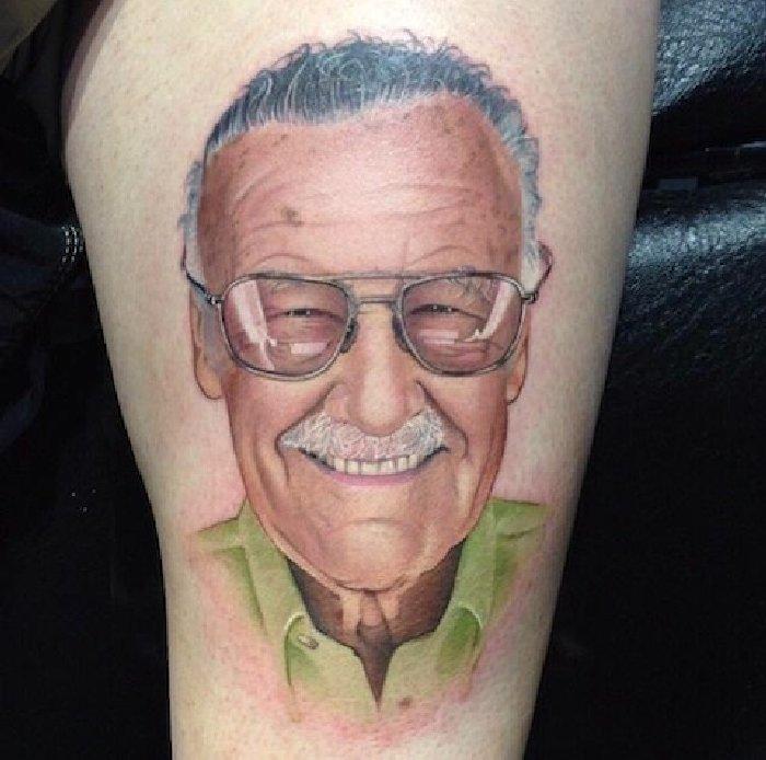 Stan Lee tattoo-David Corden