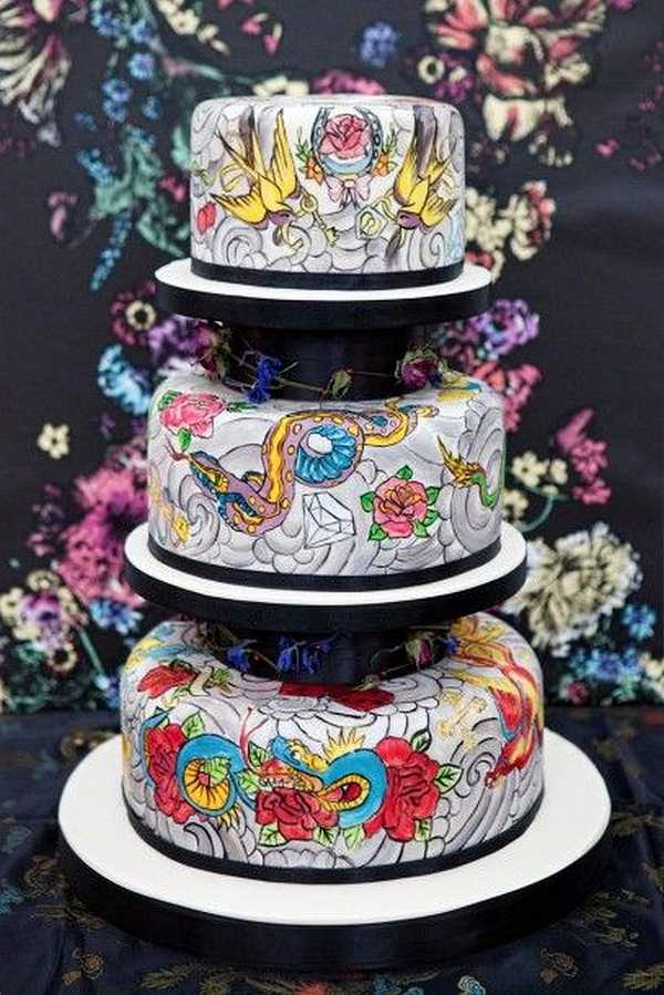 tattoo wedding cake wundersch 246 ne torten spirit 20764