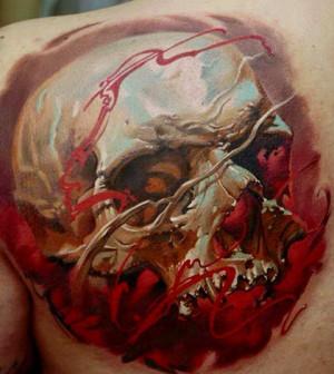 schaurige totenkopf taetowierungen tattoo spirit